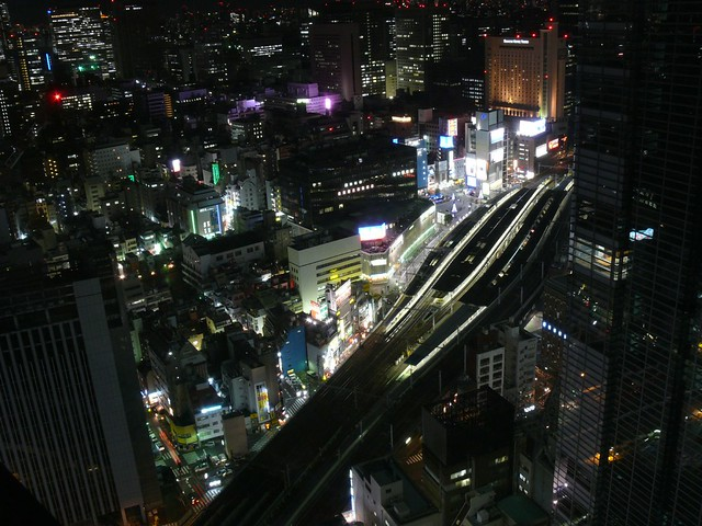 Photo:Shimbashi Station at night By Not Quite a Photographr
