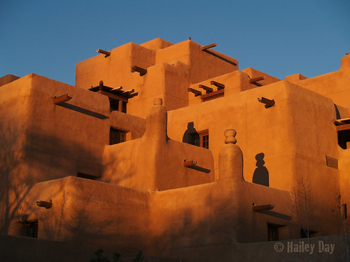 The Adobe Palace Glows at Sunset