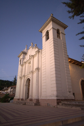 sunset church near tegucigalpa