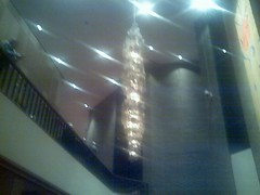 Symphony hall has ugly chandeliers