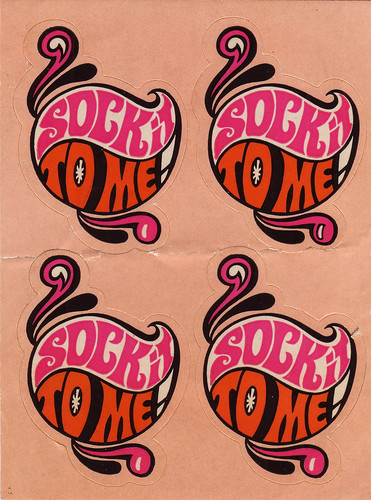 Sock It To Me - Mini Sticker Sheet - 1960s 1970s