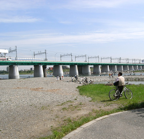 Tamagawa river side