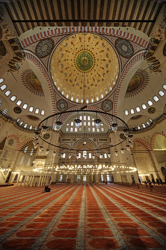 Mosque interior, Istanbul, Turkey by Timothy Neesam (GumshoePhotos)