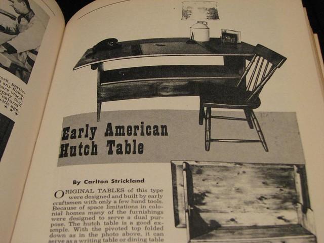 Early American Hutch Table - Explore mrbill