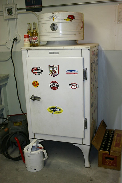 Garage Fridge: Indy Garage-Beer Cooler-er Refrigerator!