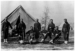 infantry, monochrome photography, crew, black-and-white, troop, team,