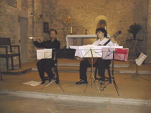 Concert en l'église de Saint-Jean-de-Buèges, Languedoc-Roussillon