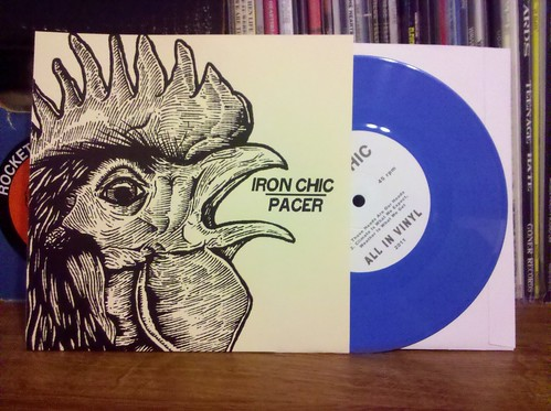 "Iron Chic / Pacer - Split 7"" - Blue Vinyl /100"