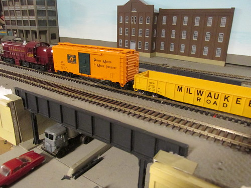 A Gulf, Mobile & Ohio Railroad local freight train passing through the city. by Eddie from Chicago