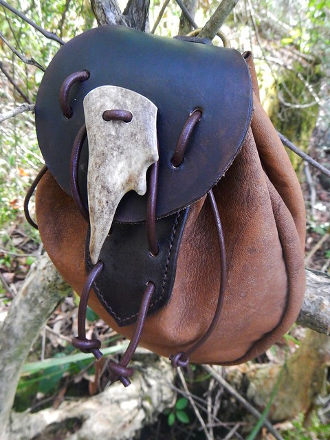 Kangaroo hide belt pouch