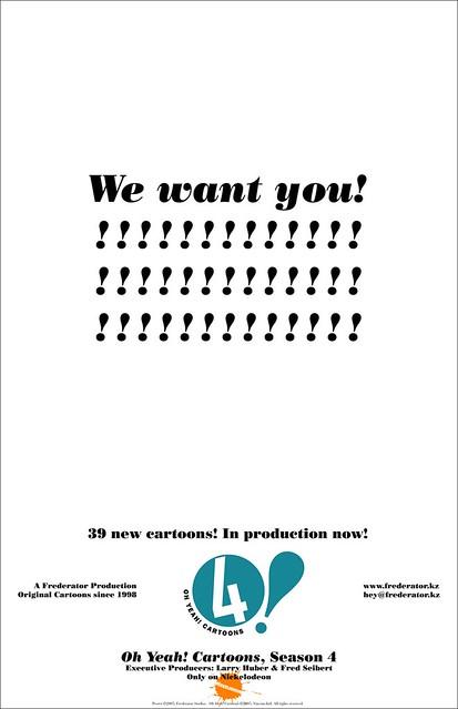 Oh Yeah! & Random! Cartoons Poster