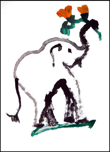 Asian elephant art and conservation project