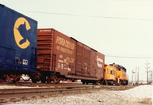 A Chessie System transfer train passing through Hayford Junction.  Chicago Illinois.  March 1985. by Eddie from Chicago