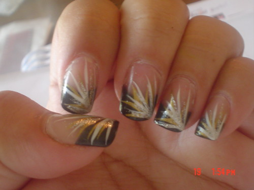 Brown And Gold Nail Art Ideas : And white digital imagery zebra nail designs black