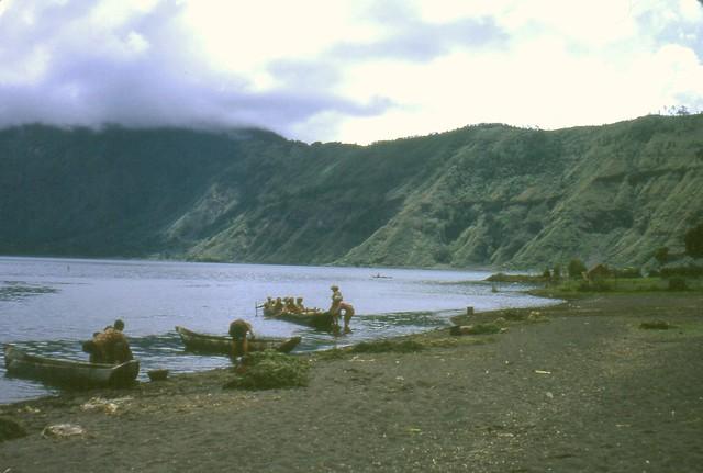 Lake Batur, Bali, Indonesia, 1967