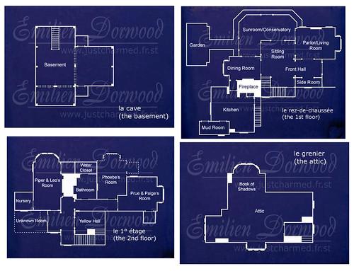 charmed halliwell manor blueprints