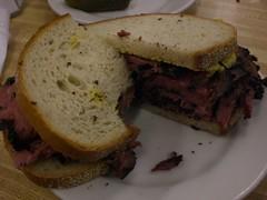 sandwich, meal, corned beef, lunch, breakfast, muffuletta, meat, food, dish,