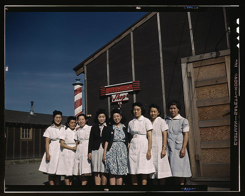 Japanese-American camp, war emergency evacuation,[Tule Lake Relocation Center, Newell, Calif.]  (LOC)