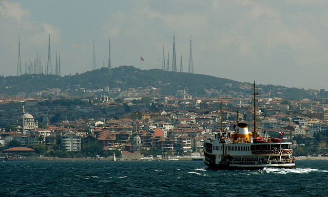 The Bosphorus, Istanbul Straight, Turkey - by Flickr user senoldemir