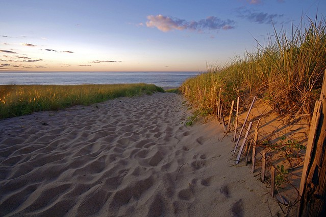 Cape Cod Beach Sunset Photo