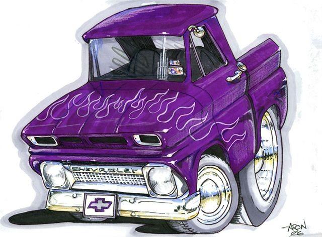 Cartoon Hot Rod Trucks
