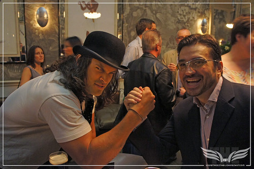 Meet Conan the Barbarian : Jason Momoa arm wrestles @ckc1ne - Haymarket Hotel, London by Craig Grobler