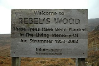 Photo of sign at the entrance to Rebels Wood, Skye