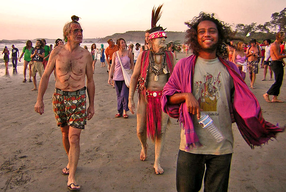 Hippie parade in Goa