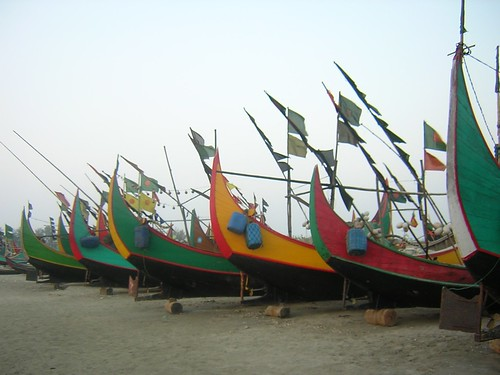Fishing boats at the beach