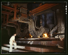 [Electric phosphate smelting furnace used in the making of elemental phosphorus in a TVA chemical plant in the Muscle Shoals area, Alabama] (LOC)