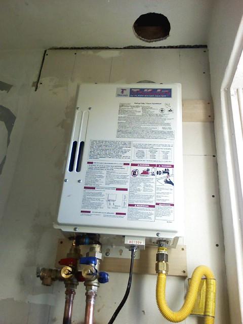 Takagi Tk Jr Tankless Water Heater During Installation 1