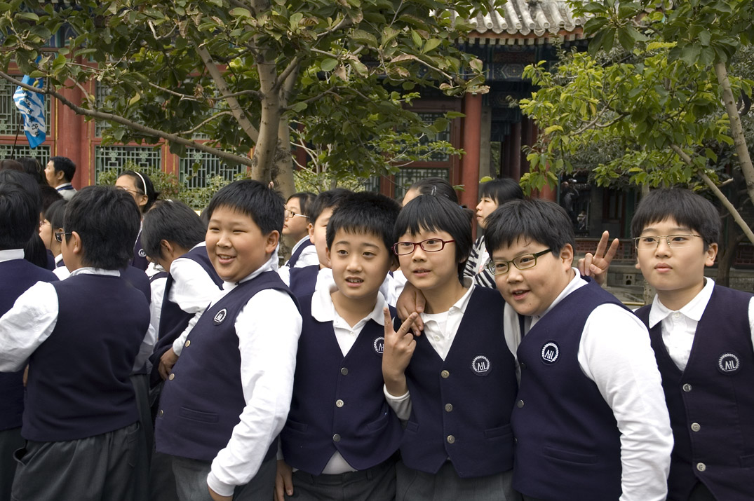 School kids at the Summer Palace