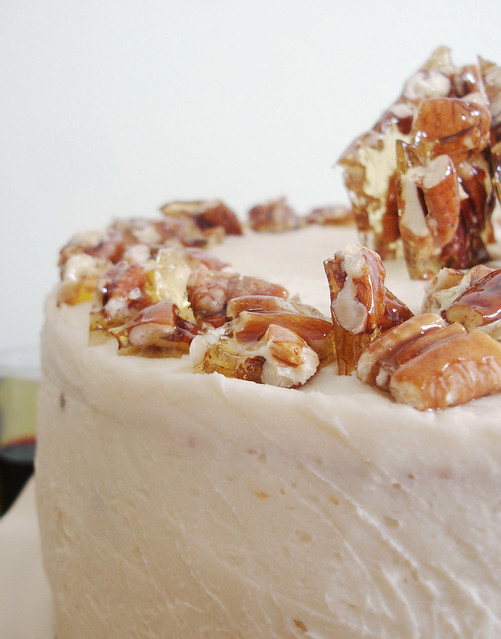Sour Cream Layer Cake with Pecan Brittles | Flickr - Photo Sharing!