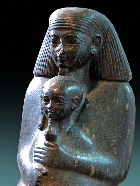 Statue of Senenmut and Neferure