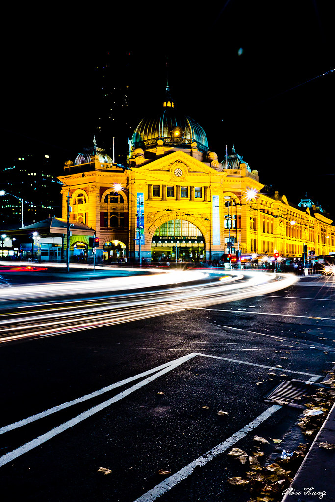 Flinders station crossing