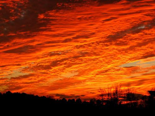 sunset orange clouds virginia va omg dinwiddie dinwiddiecounty