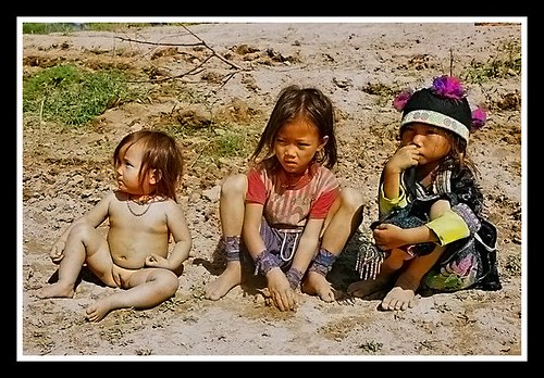 Tribe kids-Mekong River