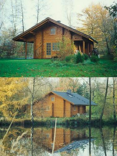 log home blockhaus aus dem jahr 1995