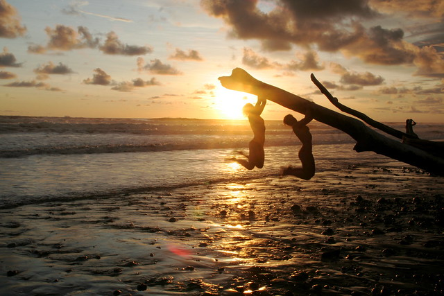 Joy at Sunset in Dominical, Costa Rica