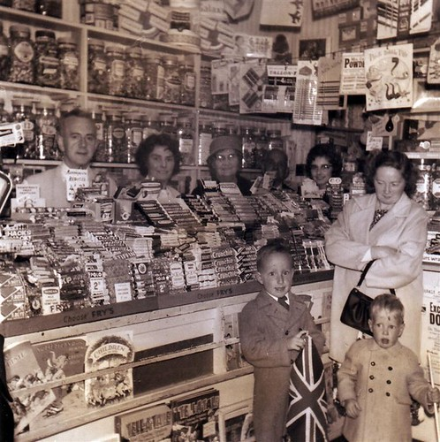 The Tuck Shoppe (Gran, Granda, Gt Grandparents & mum with shoppers)