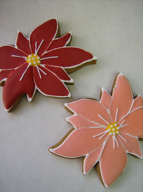 Poinsettia Cookies | Flickr - Photo Sharing!