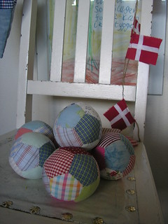 Patchwork balls and flags