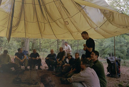Bushcraft course - the full group