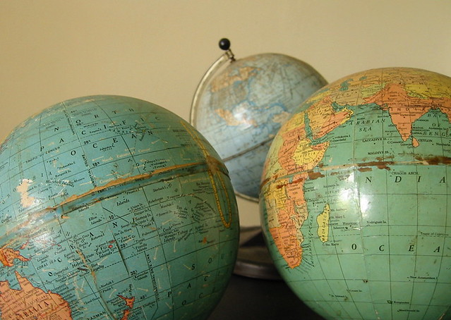 Vintage Globes from Flickr via Wylio