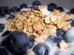 produce(0.0), granola(0.0), cereal(0.0), snack food(0.0), breakfast cereal(1.0), meal(1.0), breakfast(1.0), food(1.0), dish(1.0), dessert(1.0), muesli(1.0), cuisine(1.0),