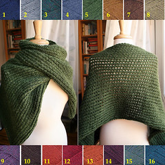Wool & Alpaca Hand Knit Shawl -- Color Options