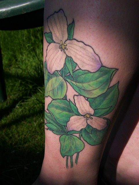 trillium tattoo it 39 s been almost a year since i got it so flickr photo sharing. Black Bedroom Furniture Sets. Home Design Ideas