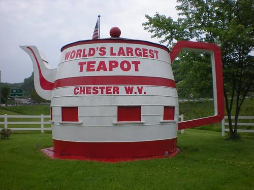 big tea chester wv westvirginia teapot largest worldslargest roadsidearchitecture wereallmadhere chesterwv worldsrecord worldslargestteapot roadsidewonder