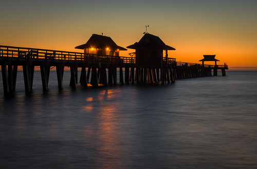 sunset twilight florida naples naplesfishingpier