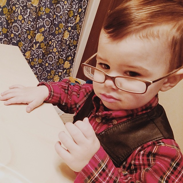 Warby Parker got nothing on him.  #instaluther #toddler